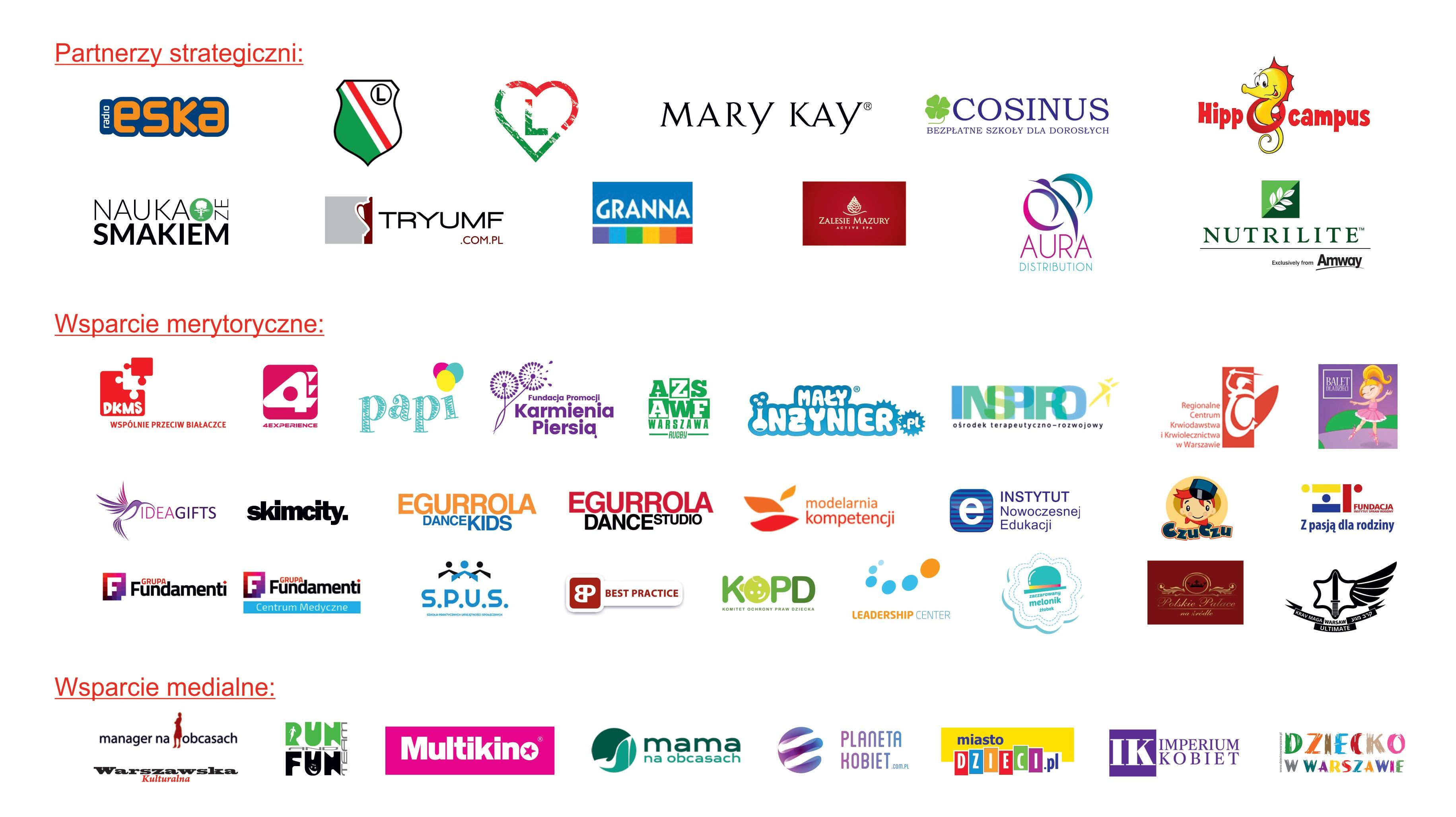 logotypy partnerów